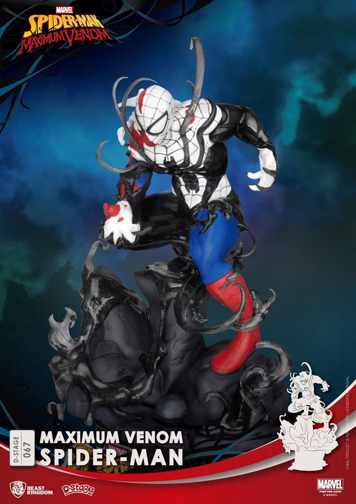 Marvel comics diorama pvc d stage maximum venom spider man 16 cm 5
