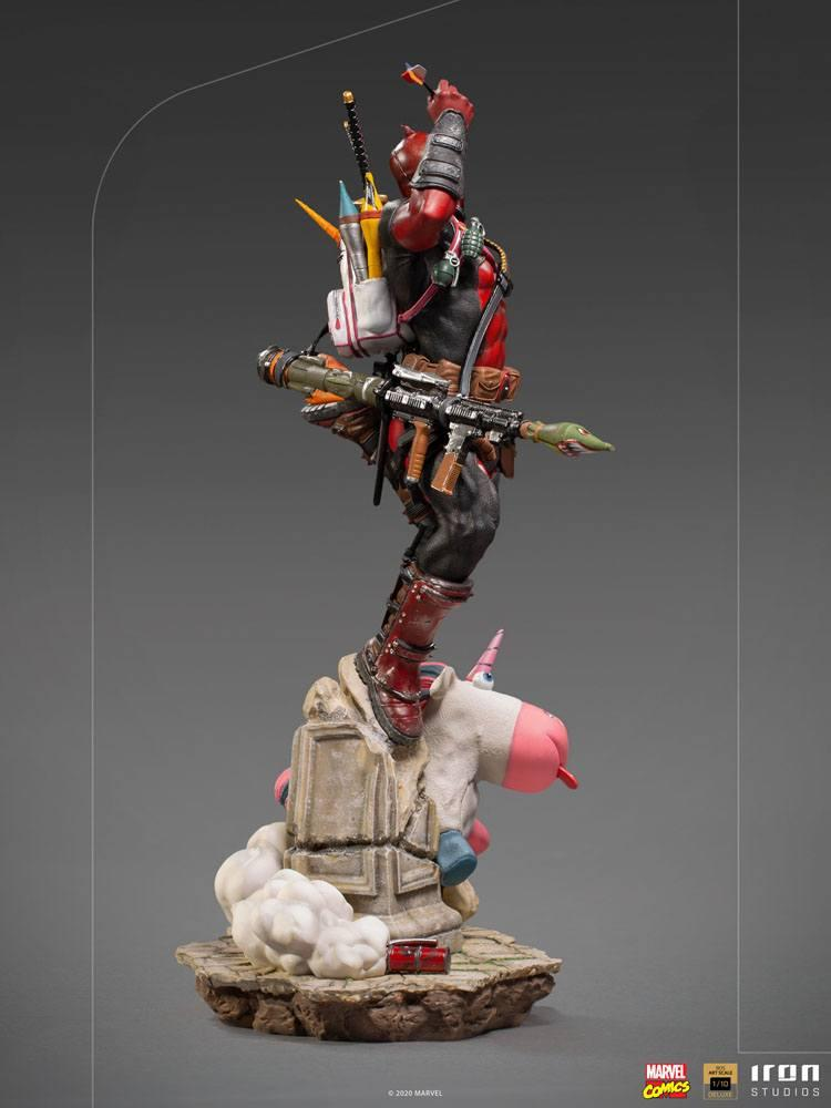Marvel comics statuette bds deluxe art scale deadpool 24 cm iron studios 4