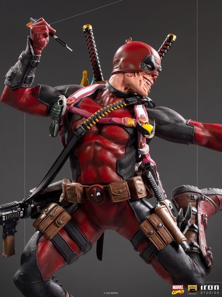 Marvel comics statuette bds deluxe art scale deadpool 24 cm iron studios 5