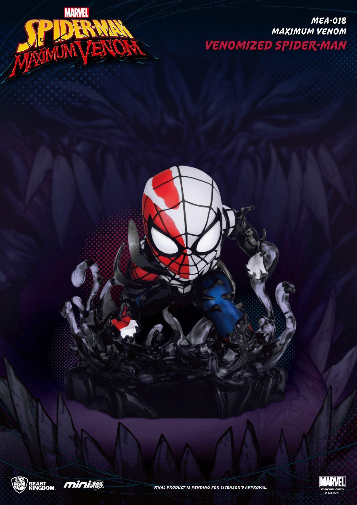 Marvel maximum venom collection figurine mini egg attack venomized spider man 8 cm 4