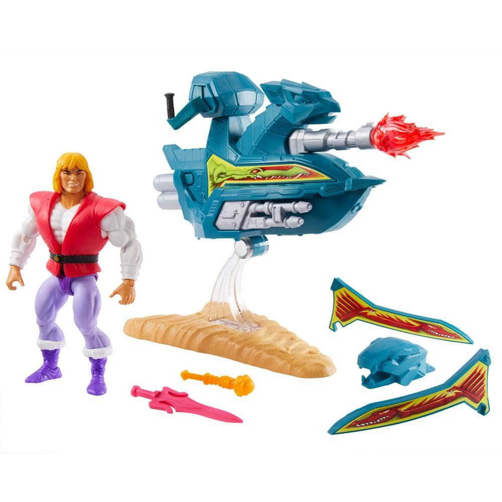 Masters of the universe origins 2020 figurine prince adam with sky sled 14 cm 6