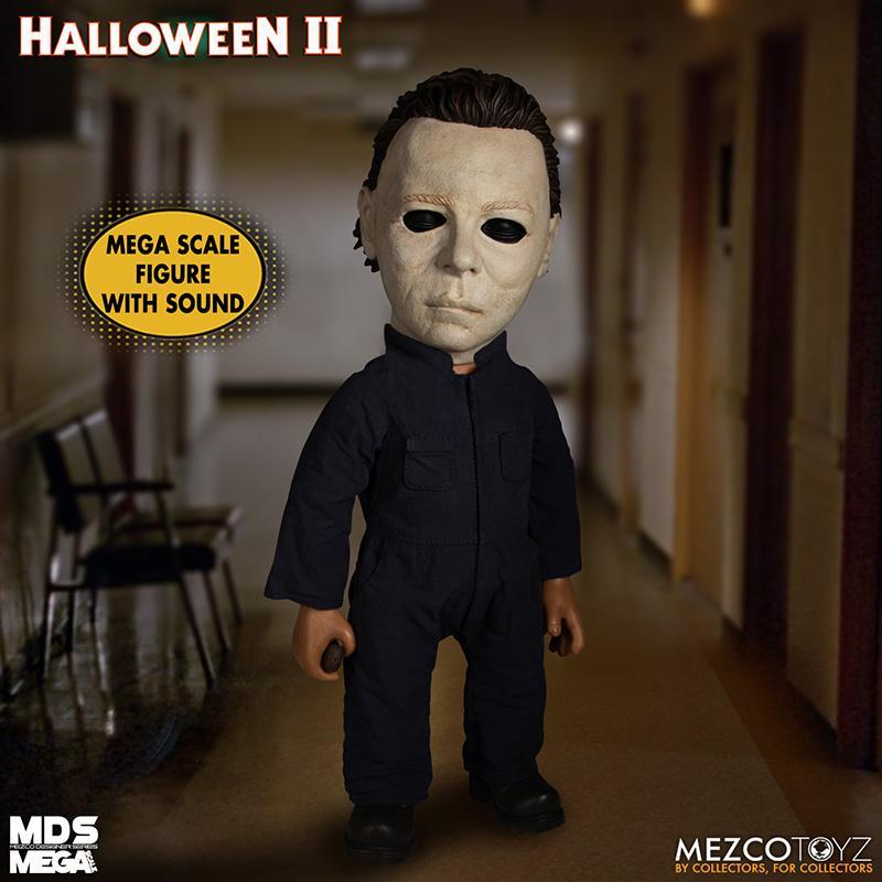 Mds halloween ii mega scale 1981 michael myers avec son mezco suukoo toys poupee