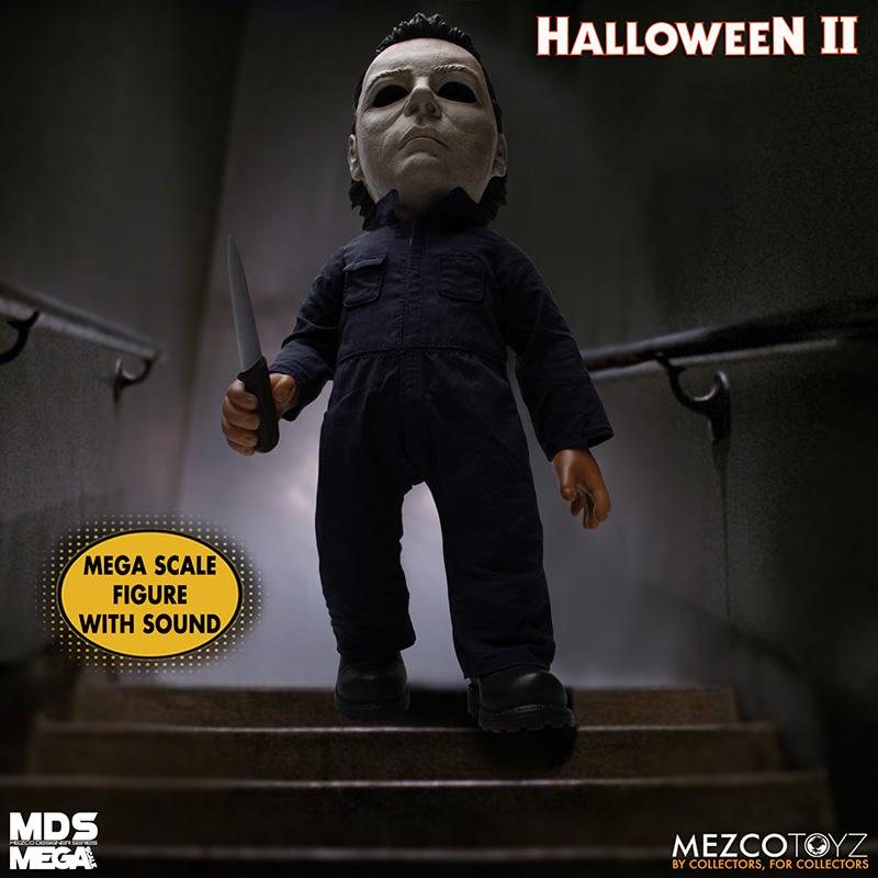 Mds halloween ii mega scale 1986 michael myers avec son mezco suukoo toys poupee