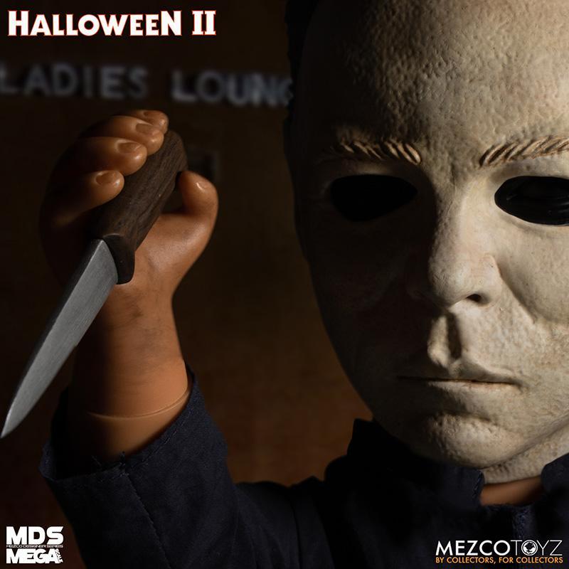 Mds halloween ii mega scale 1988 michael myers avec son mezco suukoo toys poupee
