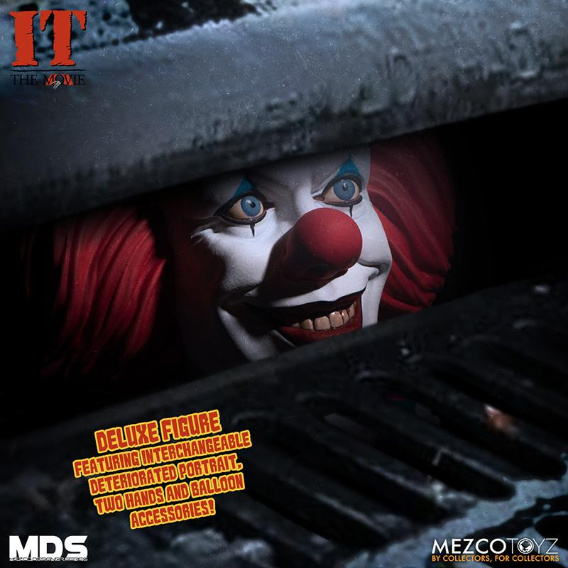 Mds it 1990 pennywise deluxe mezco 3