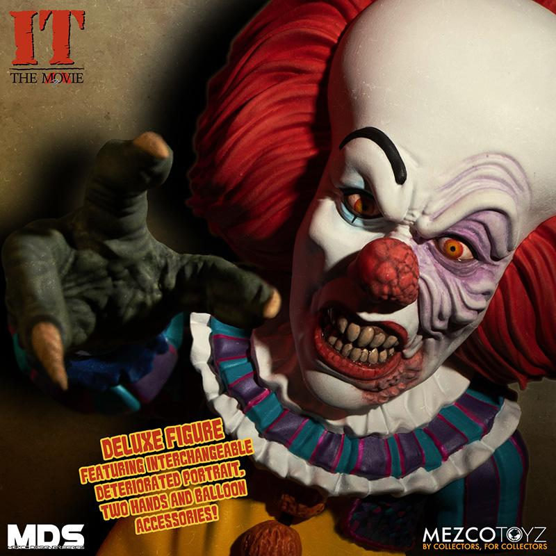 Mds it 1990 pennywise deluxe mezco 6