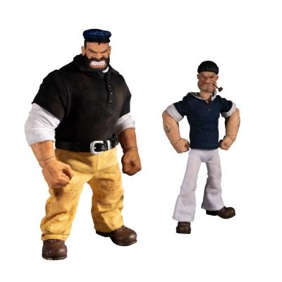 Popeye Et Brutus Deluxe 2-Pack One : 12 Collective 14-18cm
