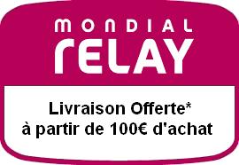 Mondial Relay offert à partir de 100€