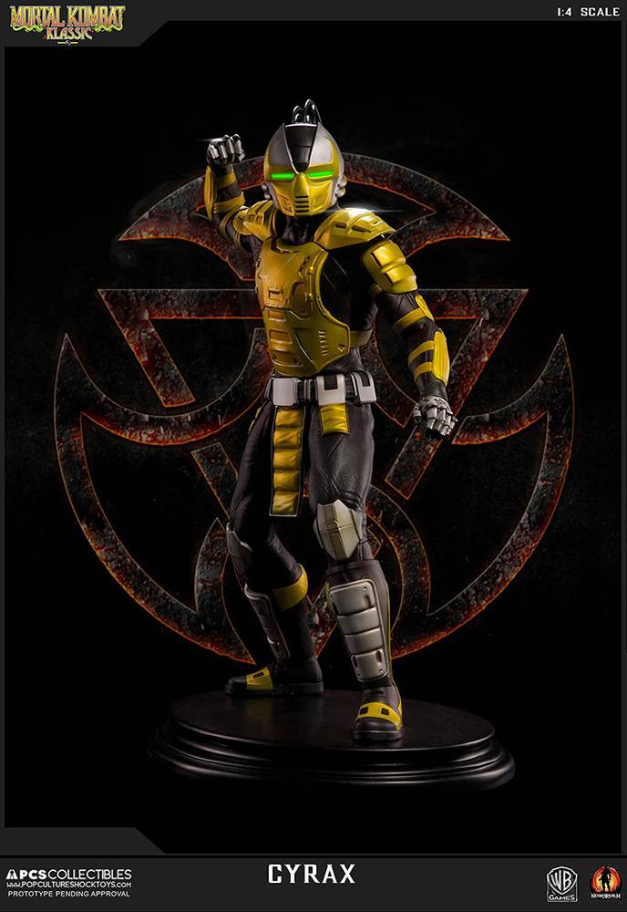 Mortal kombat cyrax statue 52cm resine regular 1
