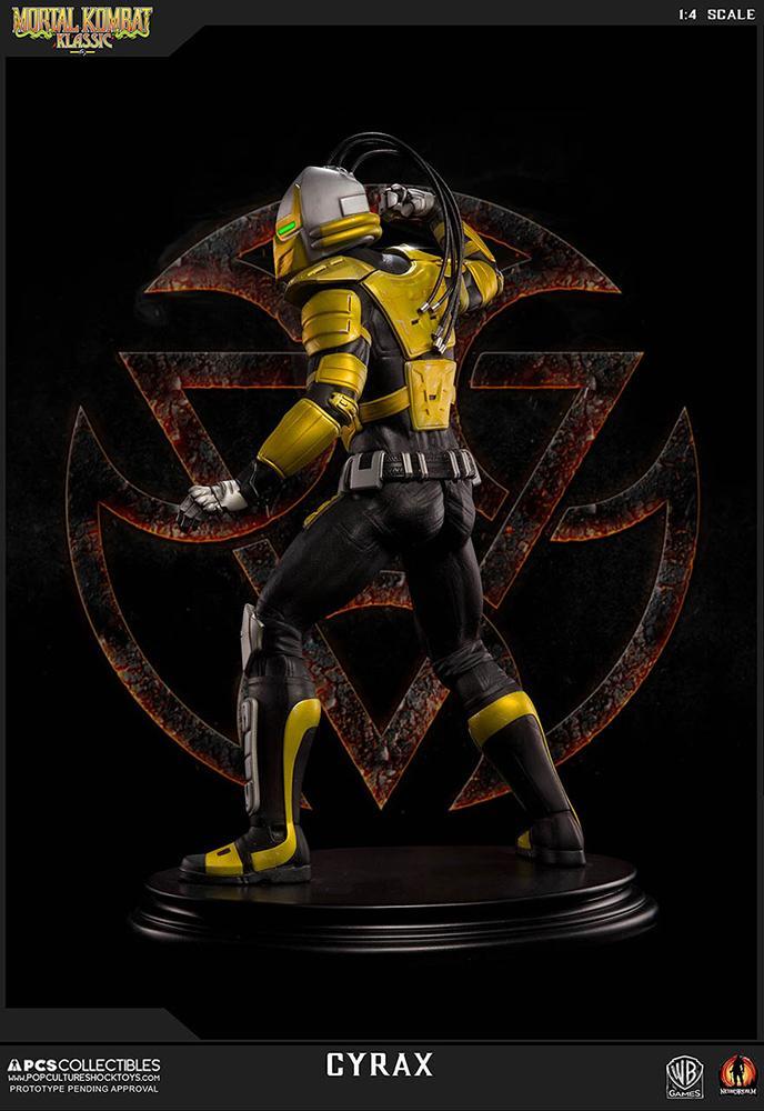 Mortal kombat cyrax statue 52cm resine regular 4