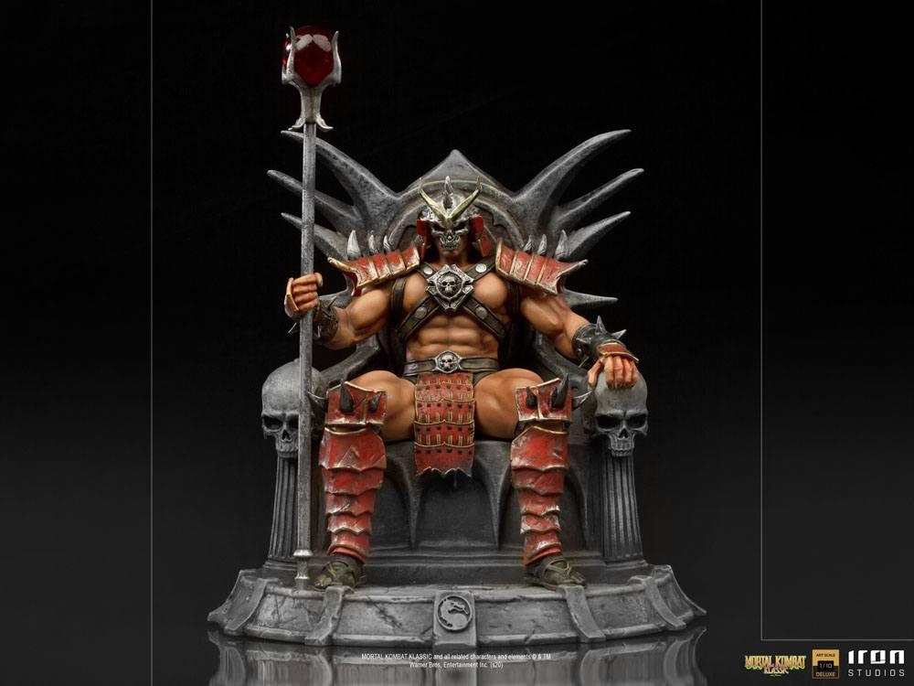 Mortal kombat statuette 110 bds deluxe art scale shao khan 25 cm 2