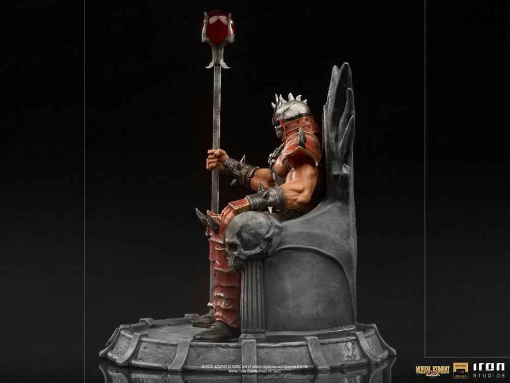 Mortal kombat statuette 110 bds deluxe art scale shao khan 25 cm 3