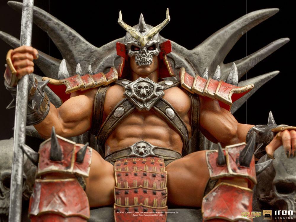 Mortal kombat statuette 110 bds deluxe art scale shao khan 25 cm 5
