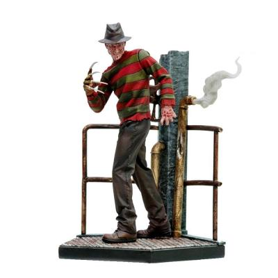 Nightmare on elm street statuette 110 art scale freddy krueger deluxe 19 cm 1