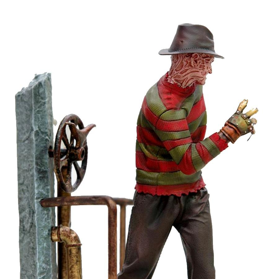 Nightmare on elm street statuette 110 art scale freddy krueger deluxe 19 cm 3