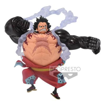 One piece figurine king of artist monkey d luffy gear 4 wanokuni 13 cm banpresto 1
