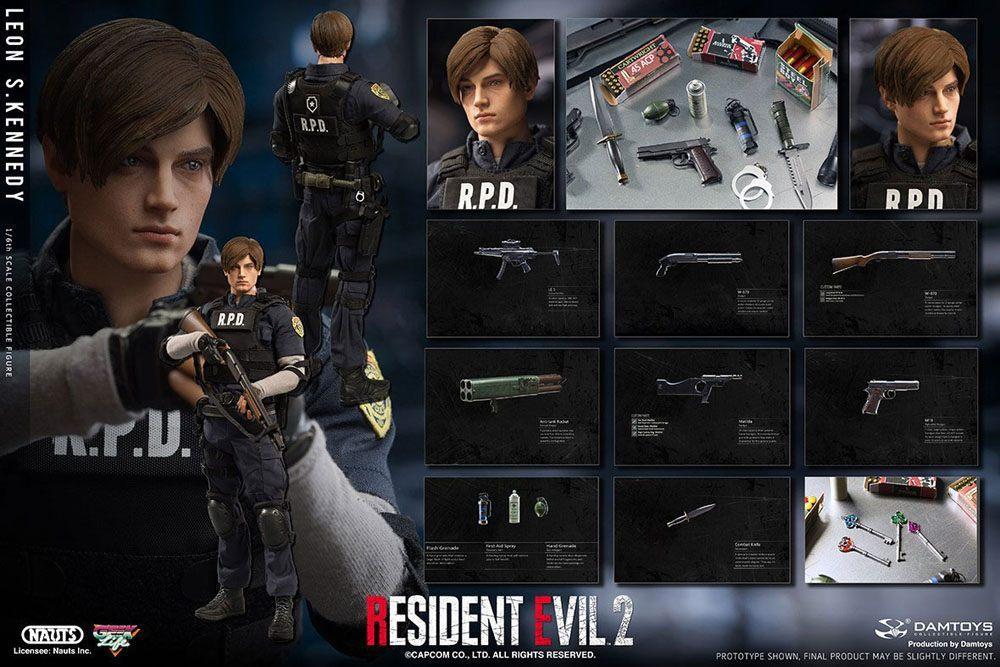 Resident evil 2 figurine 16 leon s kennedy 30 cm 17