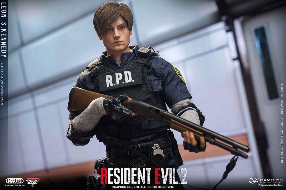 Resident evil 2 figurine 16 leon s kennedy 30 cm 8