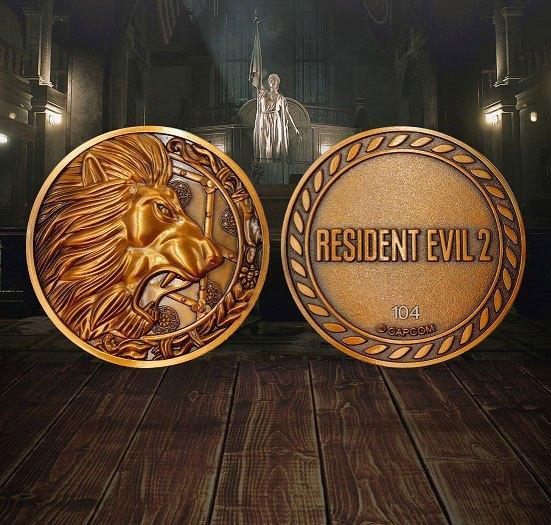 Resident evil 2 replique 11 medaillon lion 2