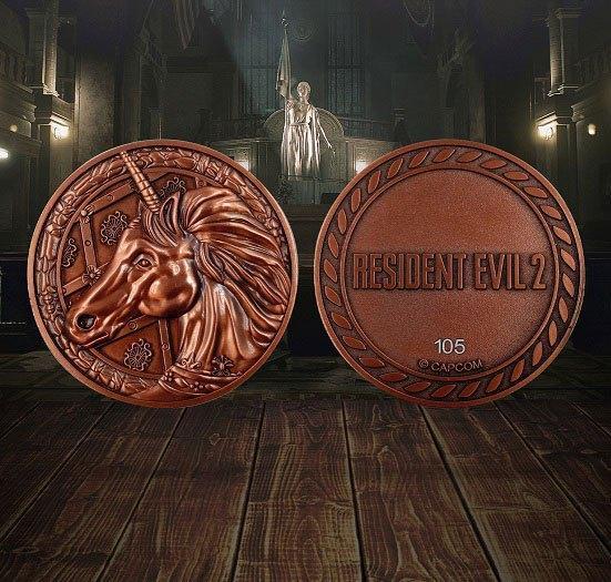 Resident evil 2 replique 11 medaillon unicorn 2