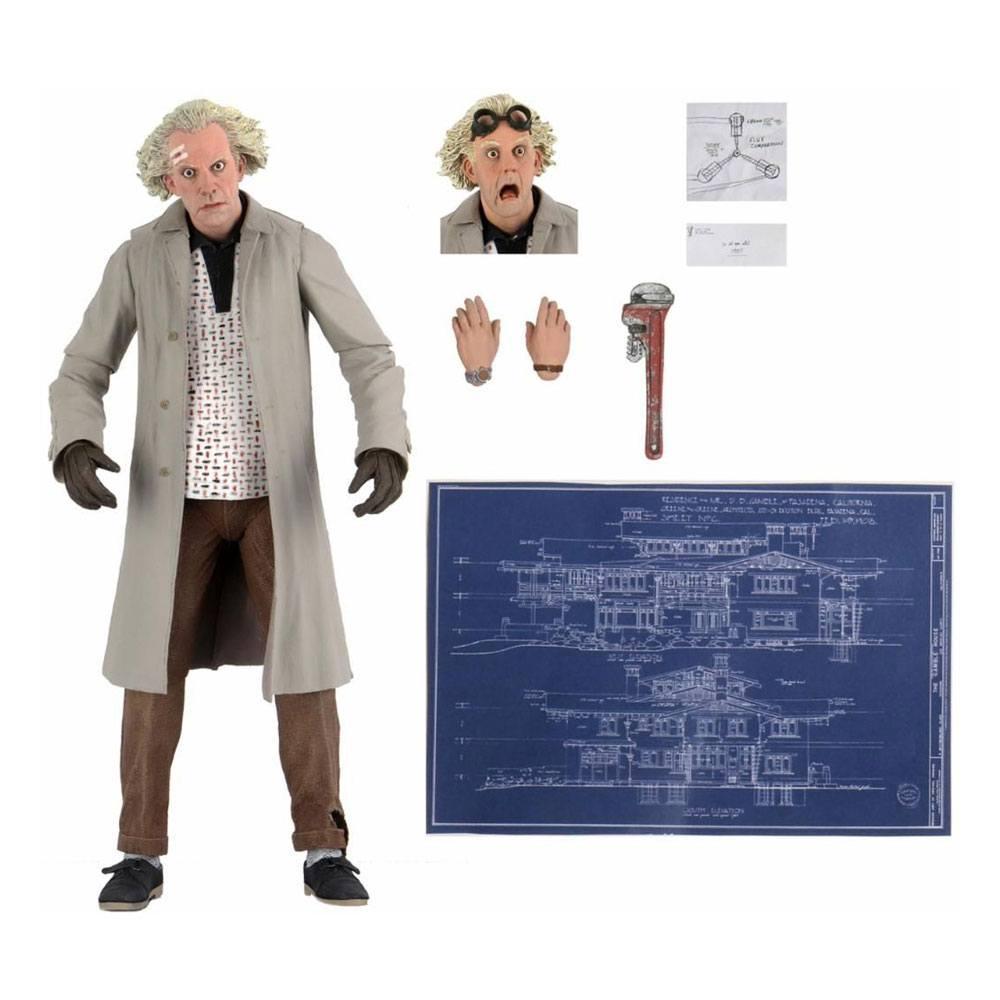 Retour vers le futur figurine ultimate doc brown 18 cm nec back to the futur
