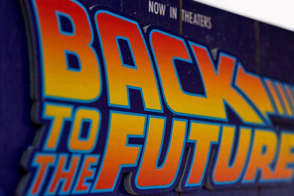 Retour vers le futur tableau en bois back to the futur woodarts print 3d 3