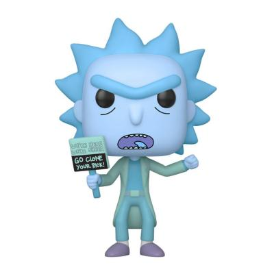 Rick et morty figurine pop animation vinyl hologram rick clone 9 cm