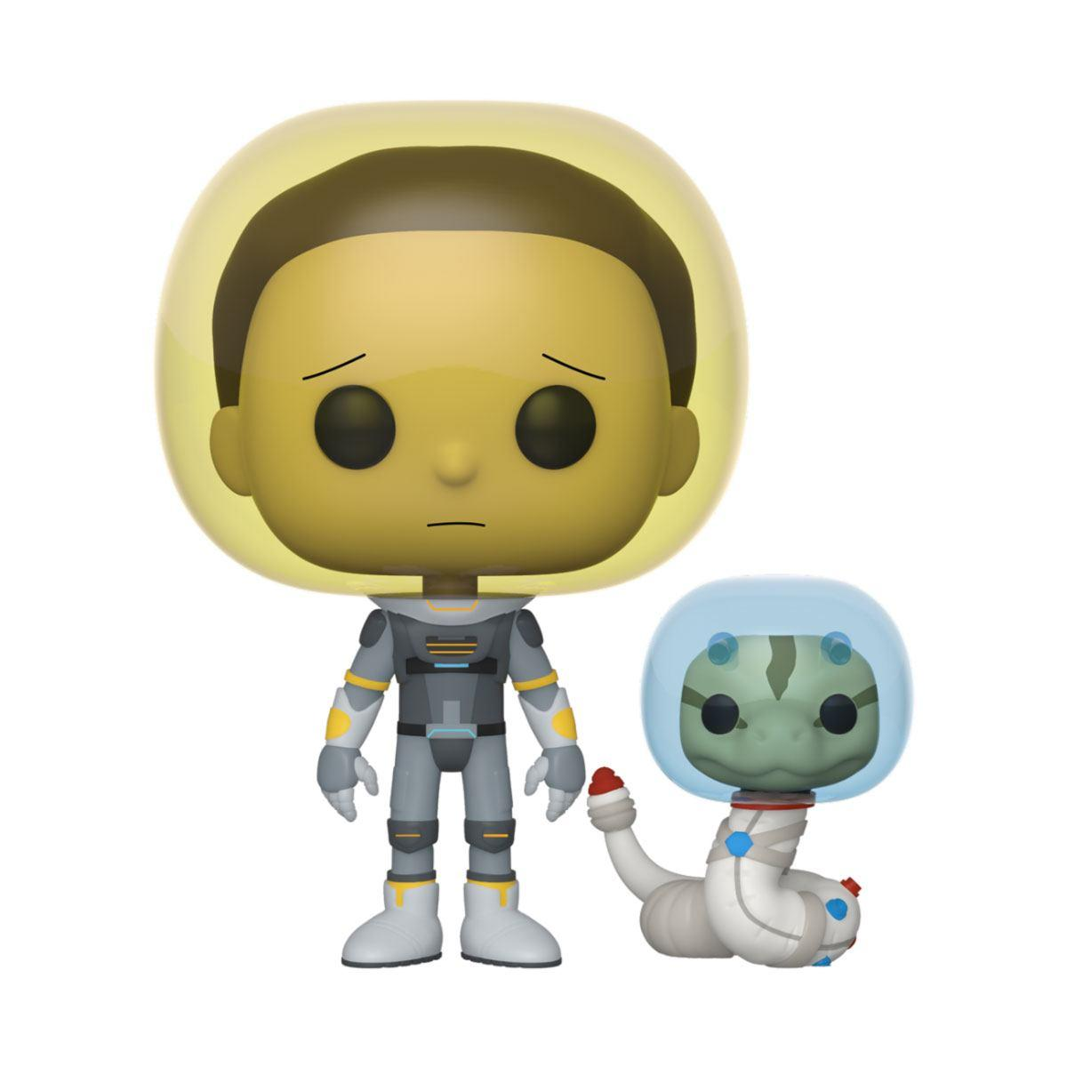 Rick morty pop animation vinyl figurine space suit morty 9 cm
