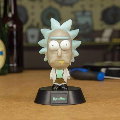Rick morty veilleuse 3d icon rick 10 cm 2 784157