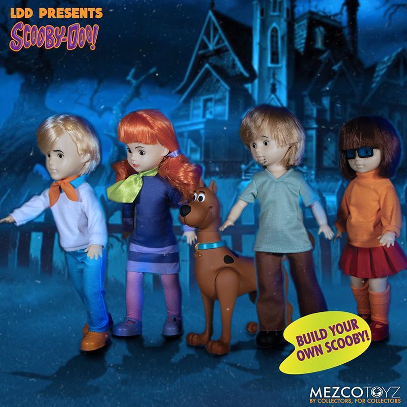Scooby doo mistery inc pack 4 poupees suukoo toys mezco poupee ldd 1