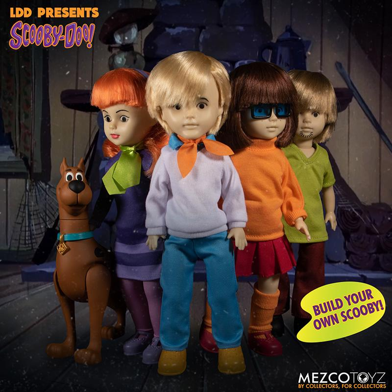 Scooby doo mistery inc pack 4 poupees suukoo toys mezco poupee ldd 2