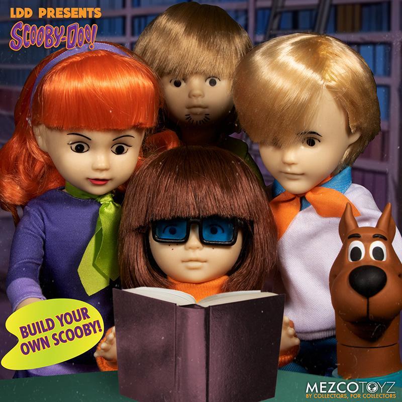 Scooby doo mistery inc pack 4 poupees suukoo toys mezco poupee ldd 5