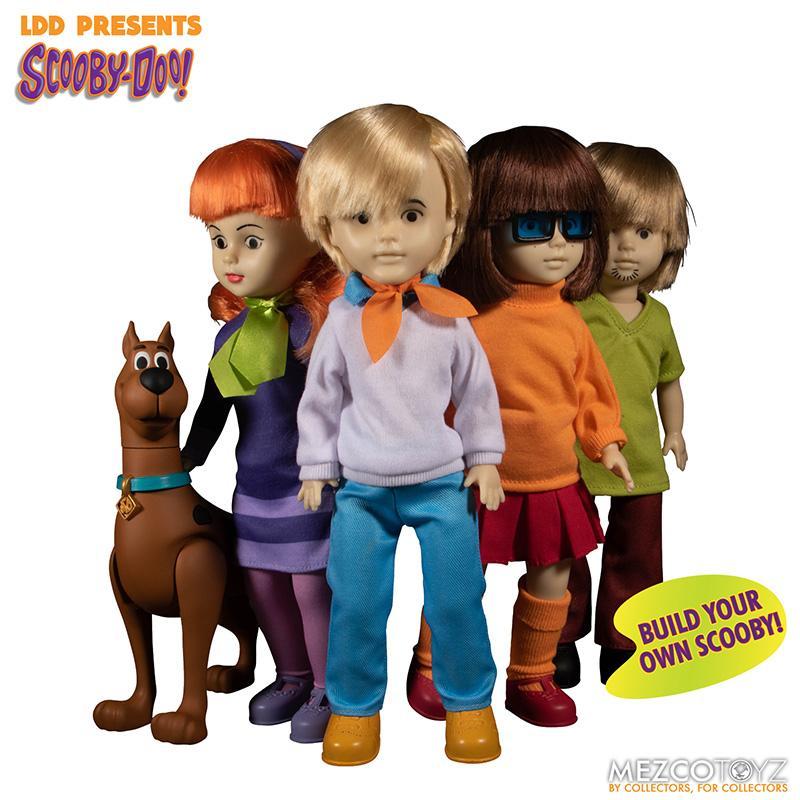 Scooby doo mistery inc pack 4 poupees suukoo toys mezco poupee ldd 9
