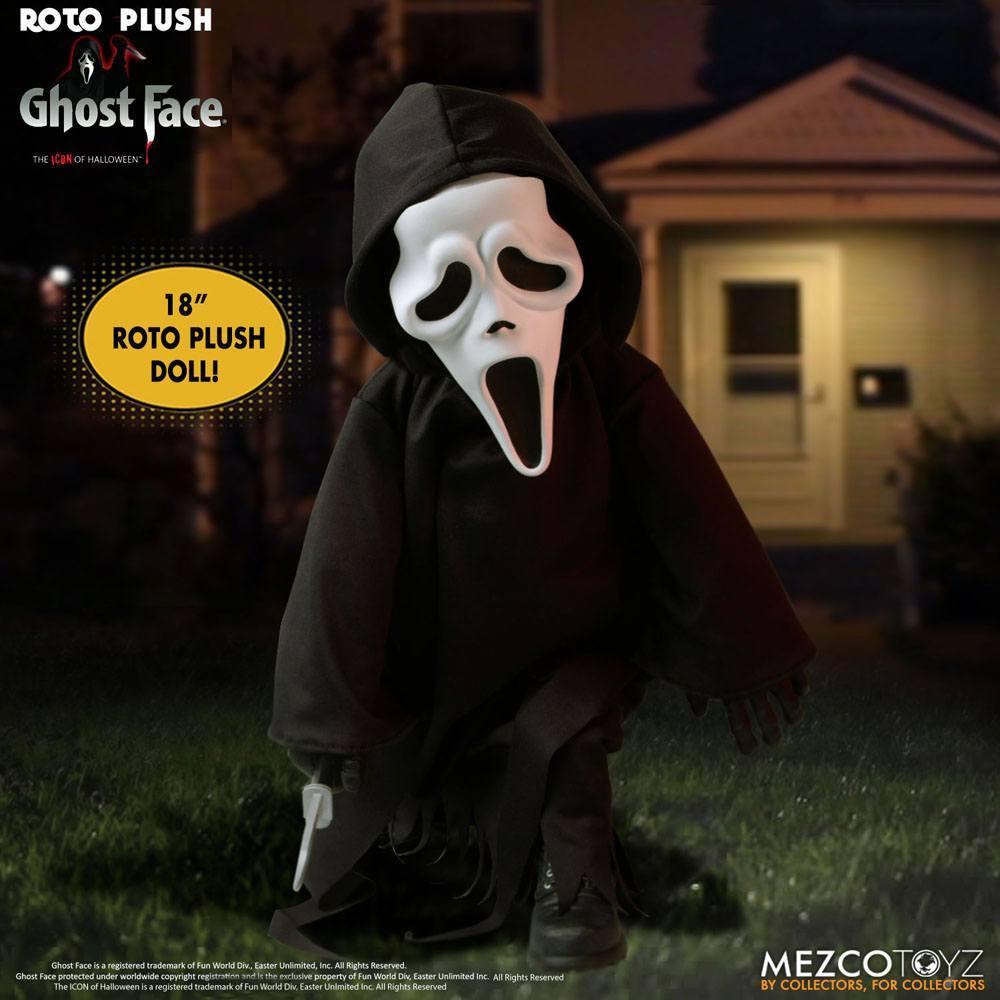 Scream poupee mds roto ghost face 46 cm mezco 5