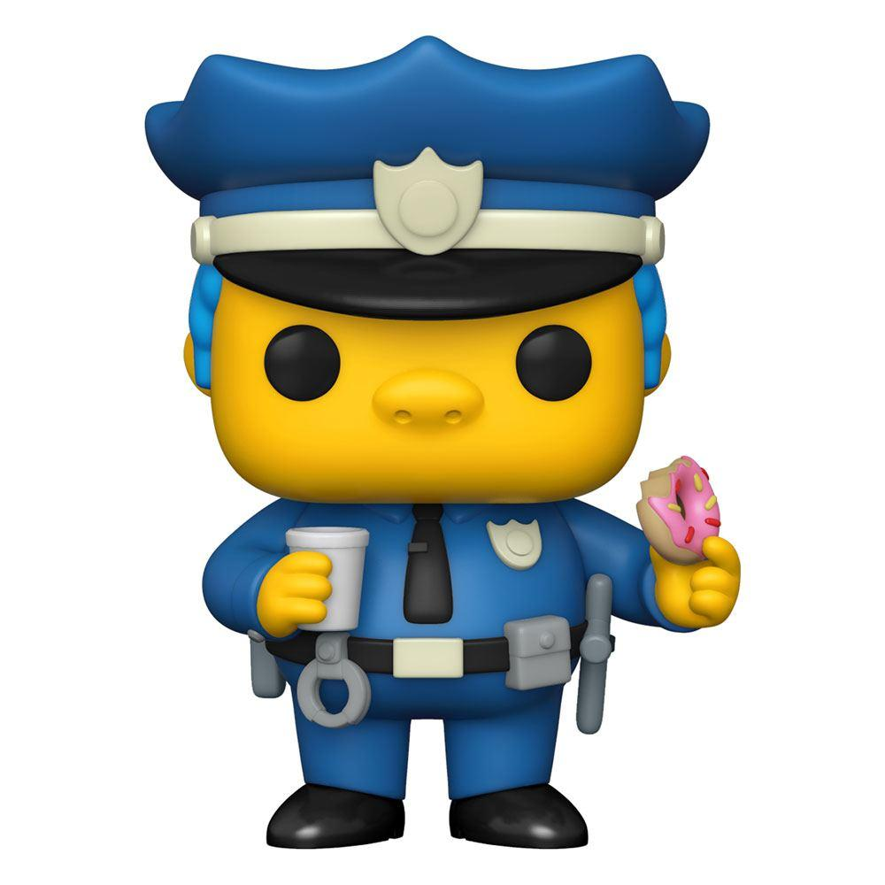 Simpsons figurine pop animation vinyl chief wiggum 9 cm
