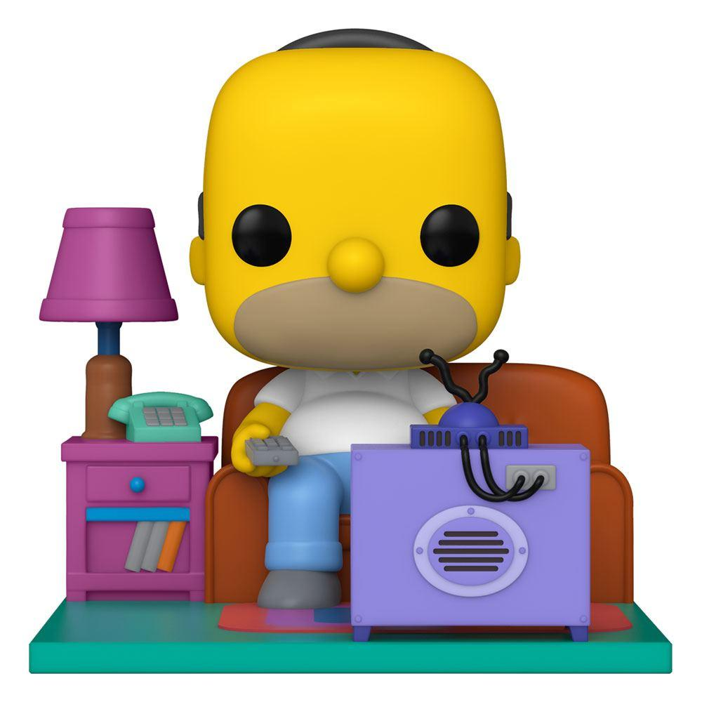 Simpsons pop deluxe vinyl figurine homer watching tv 18 cm