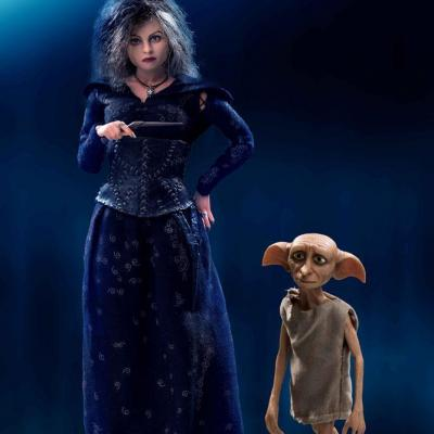 Harry Potter pack 2 figurines Real Master Series 1/8 Bellatrix & Dobby 16-23 cm