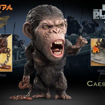 La Planète des singes: Les Origines statuette Deform Real Series Soft Vinyl Caesar Chain Ver. Deluxe