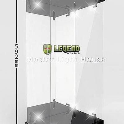 Master Light House présentoir vitrine acrylique avec éclairage pour figurines 1/4 (noir)