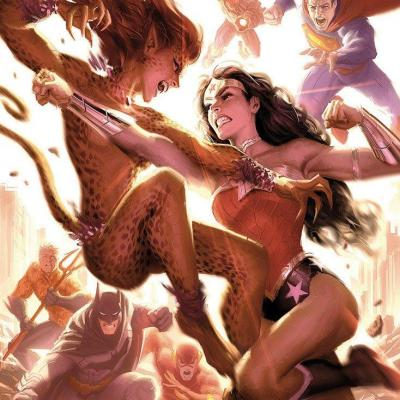 DC Comics impression Art Print Justice League: Wonder Woman vs Cheetah 46 x 61 cm - non encadrée