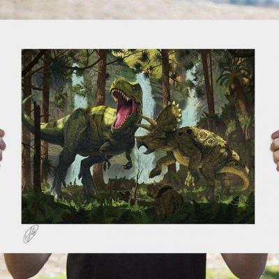 Original Artist Series impression Art Print Protection by Vincent Hie 41 x 51 cm - non encadrée