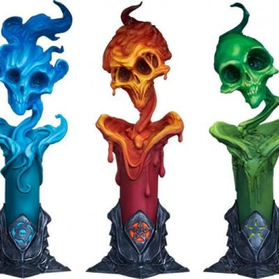 Court of the Dead pack 3 statuettes Led - The Lighter Side of Darkness: Faction Candle 18 cm