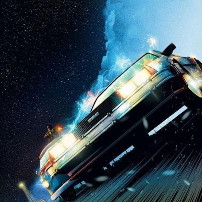 Retour vers le futur lithographie DeLorean Limited Edition 42 x 30 cm