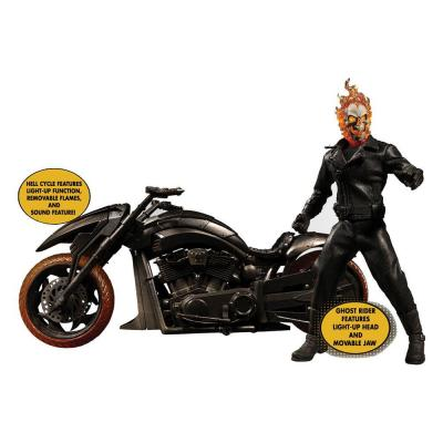 Ghost Rider figurine & véhicule sonore et lumineux 1/12 Ghost Rider & Hell Cycle