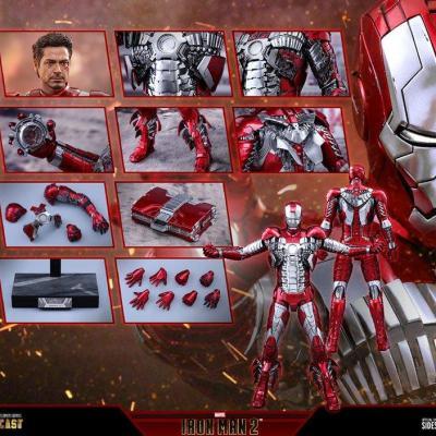 Iron Man 2 figurine Movie Masterpiece Series Diecast 1/6 Iron Man Mark V 32 cm