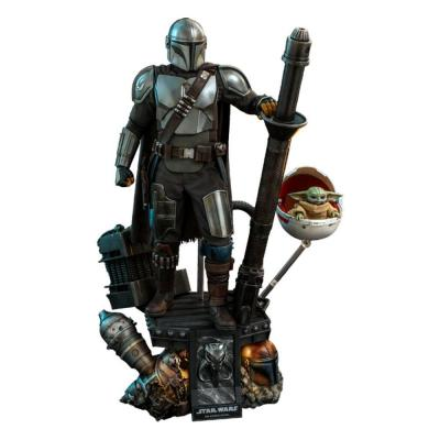 Star Wars The Mandalorian pack 2 figurines 1/4 The Mandalorian & The Child Deluxe 46 cm
