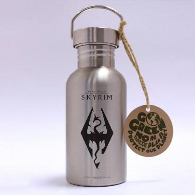The Elder Scrolls V: Skyrim Bouteille metal Dragon Symbol