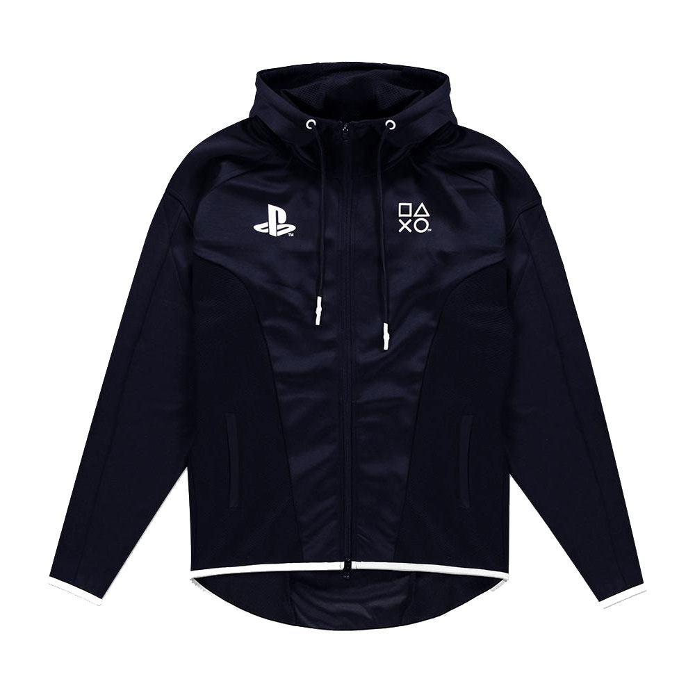 Sony playstation veste a capuche black white difuzed 1