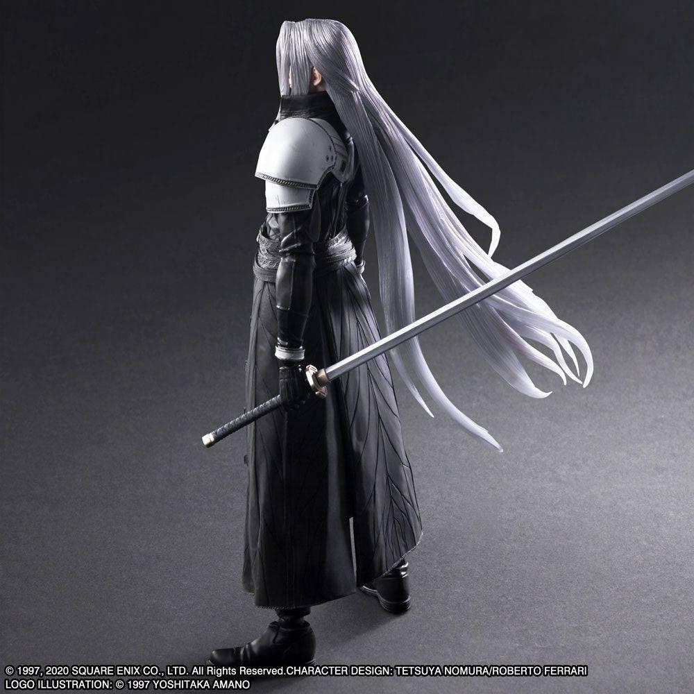 Squareenix final fantasy vii play arts kai figurine sephiroth 28 cm suukoo toys 7
