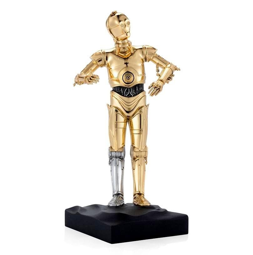 Star wars statuette pewter collectible c 3po limited edition 23 cm 1 1
